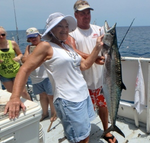 This 25-pound king mackerel was one of two that was caught aboard the Fort Pierce Lady yesterday.